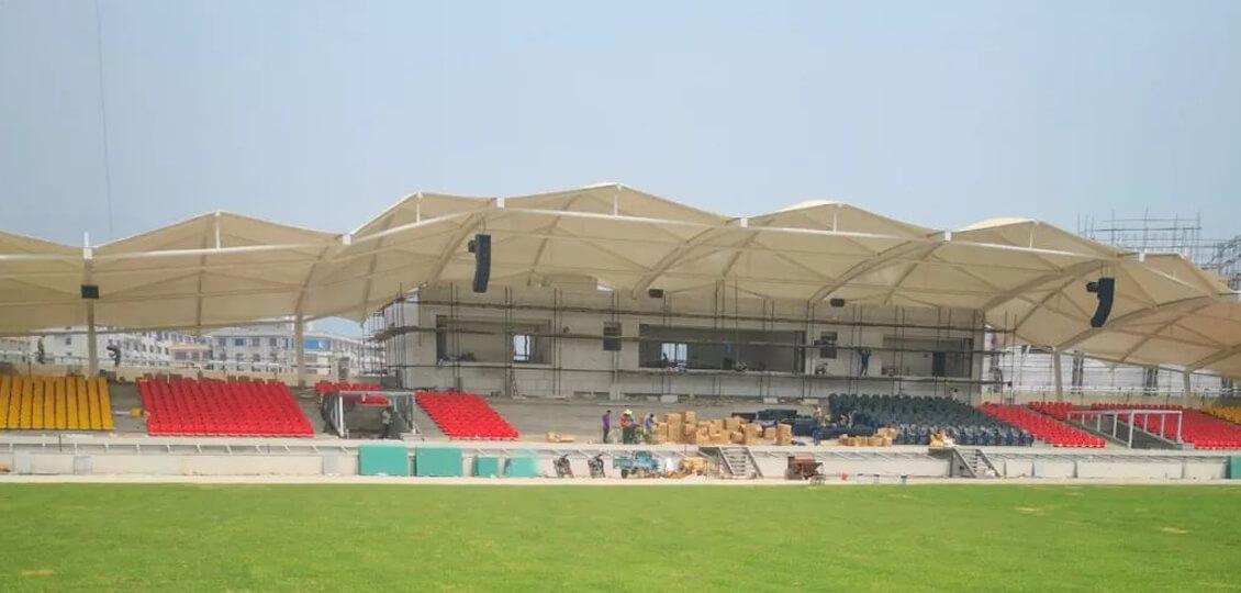 让运动精彩演绎|缅甸掸邦东部第四特区新体育场足球场高杆灯项目