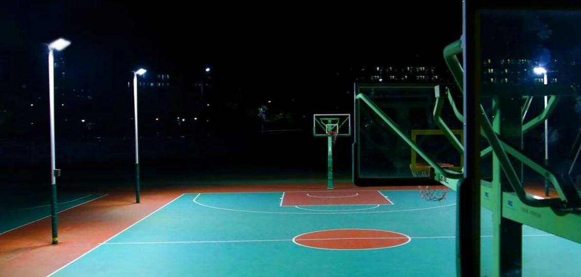点亮未来之星——宝安区中学篮球场照明案例