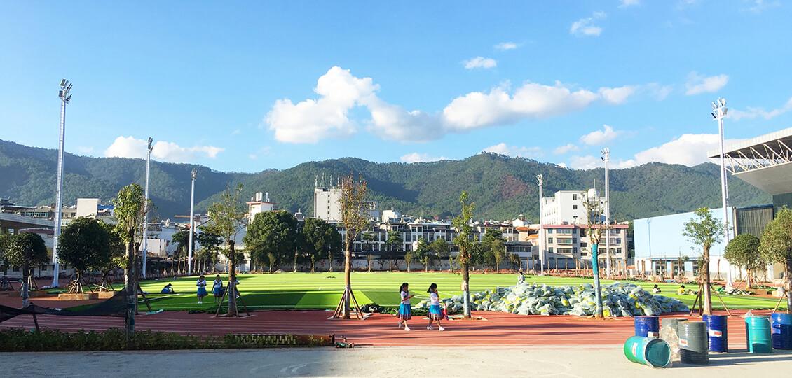 【案例】扮靓美丽县城|云南新平体育森林公园足球场照明工程